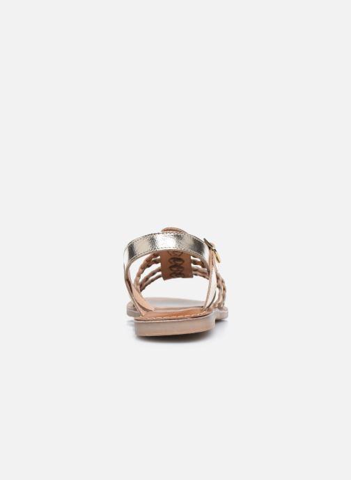 Sandali e scarpe aperte L'Atelier Tropézien Mathilde Oro e bronzo immagine destra