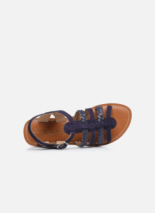 Sandales et nu-pieds L'Atelier Tropézien Mathilde Bleu vue gauche