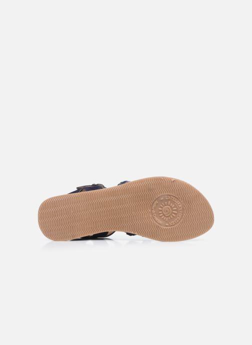 Sandales et nu-pieds L'Atelier Tropézien Mathilde Bleu vue haut
