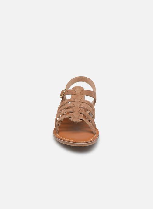 Sandales et nu-pieds L'Atelier Tropézien Mathilde Marron vue portées chaussures
