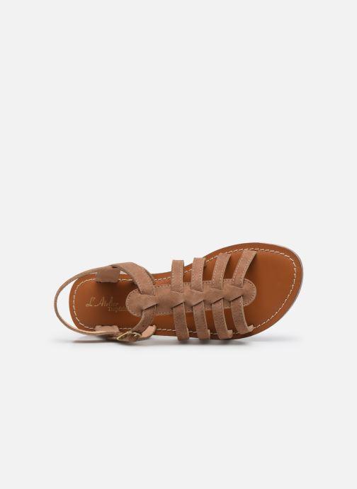 Sandales et nu-pieds L'Atelier Tropézien Mathilde Marron vue gauche