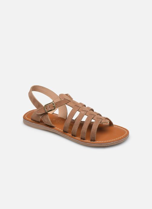 Sandales et nu-pieds L'Atelier Tropézien Mathilde Marron vue détail/paire