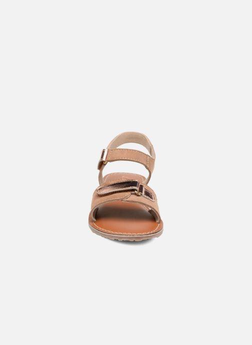 Sandales et nu-pieds L'Atelier Tropézien Clémence Marron vue portées chaussures