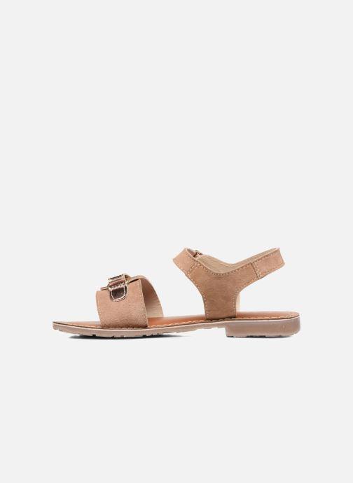 Sandales et nu-pieds L'Atelier Tropézien Clémence Marron vue face