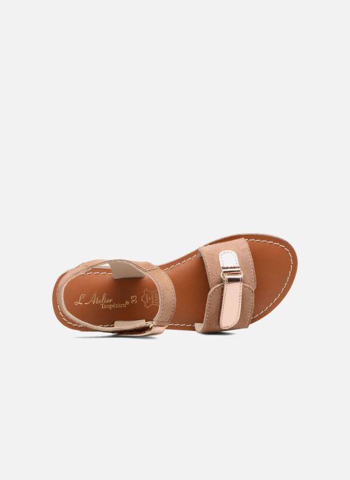 Sandales et nu-pieds L'Atelier Tropézien Clémence Marron vue gauche
