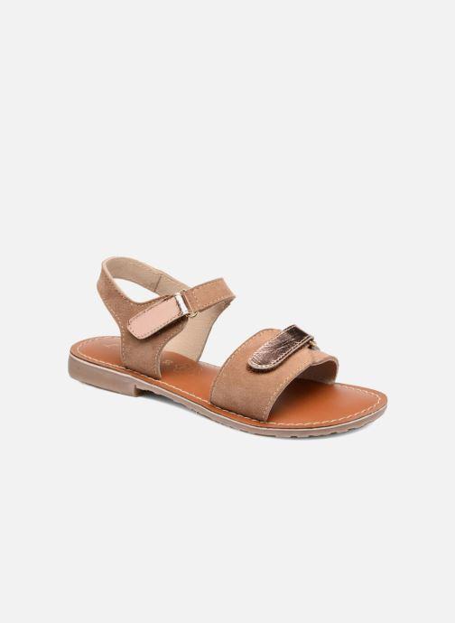 Sandales et nu-pieds L'Atelier Tropézien Clémence Marron vue détail/paire