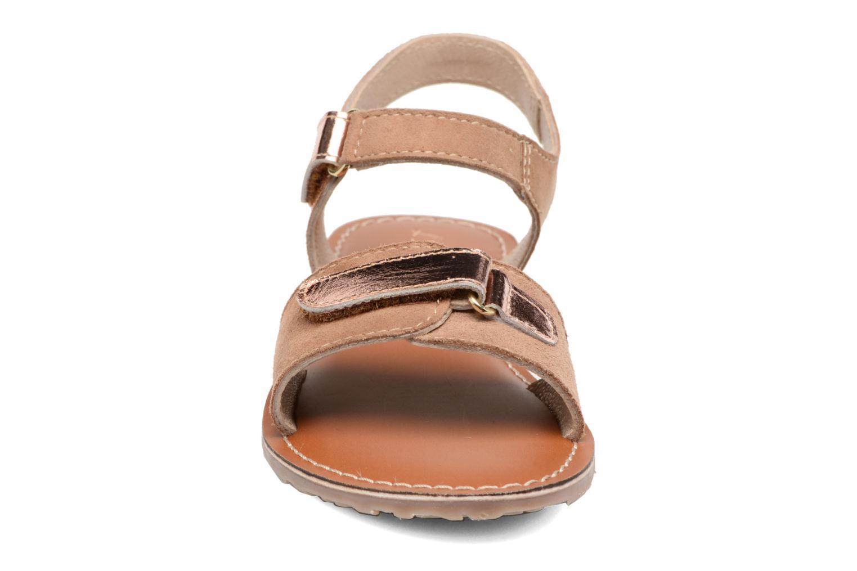 Sandals L'Atelier Tropézien Clémence Brown model view