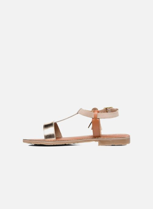 Sandales et nu-pieds L'Atelier Tropézien Aurélia Or et bronze vue face