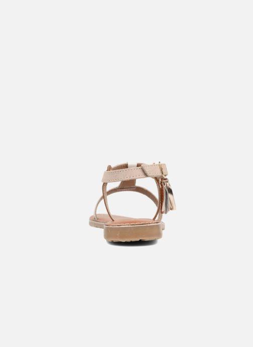 Sandales et nu-pieds L'Atelier Tropézien Aurélia Or et bronze vue droite