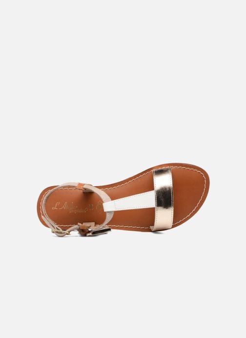 Sandales et nu-pieds L'Atelier Tropézien Aurélia Or et bronze vue gauche
