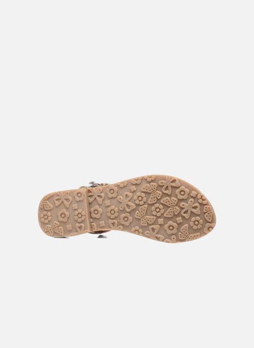 Sandales et nu-pieds L'Atelier Tropézien Aurélia Or et bronze vue haut