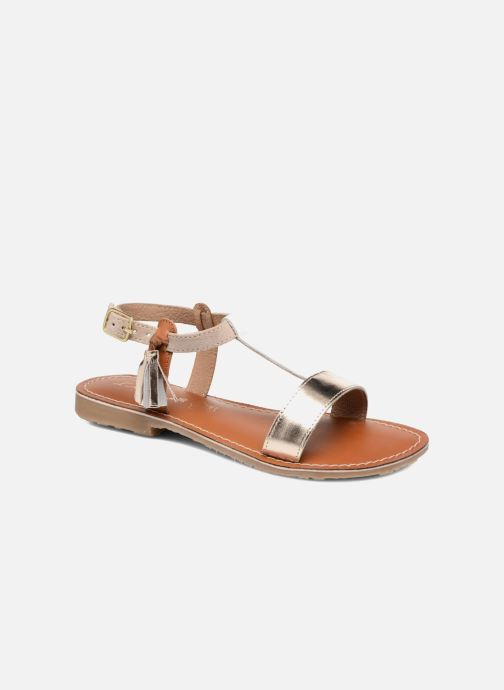 Sandales et nu-pieds L'Atelier Tropézien Aurélia Or et bronze vue détail/paire