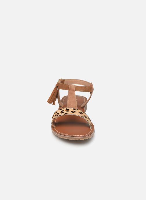 Sandales et nu-pieds L'Atelier Tropézien Aurélia Marron vue portées chaussures