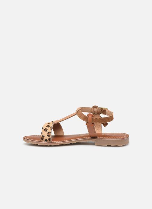 Sandals L'Atelier Tropézien Aurélia Brown front view
