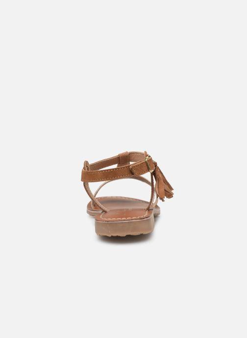 Sandales et nu-pieds L'Atelier Tropézien Aurélia Marron vue droite