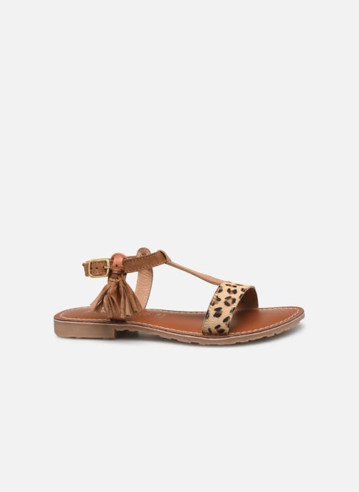 Sandales et nu-pieds L'Atelier Tropézien Aurélia Marron vue derrière