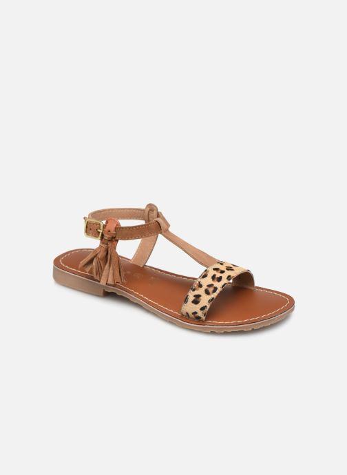 Sandales et nu-pieds L'Atelier Tropézien Aurélia Marron vue détail/paire