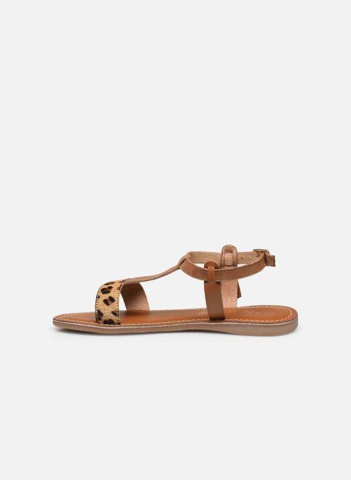 Sandales et nu-pieds L'Atelier Tropézien Aurélia Marron vue face