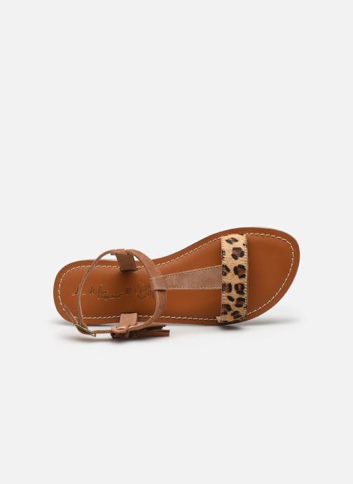 Sandales et nu-pieds L'Atelier Tropézien Aurélia Marron vue gauche