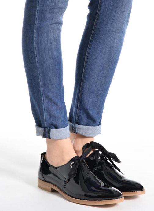 Chaussures à lacets Georgia Rose Nitin Bleu vue bas / vue portée sac