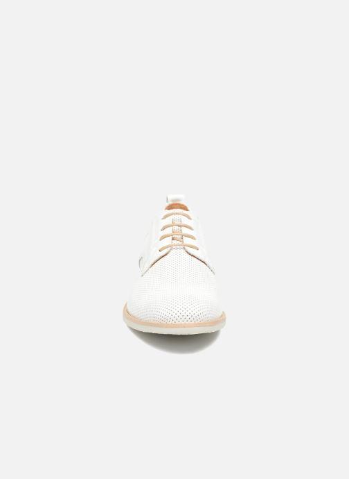 Chaussures à lacets Georgia Rose Nitrou Blanc vue portées chaussures