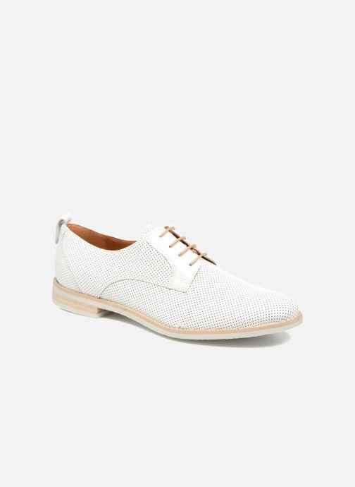 Chaussures à lacets Georgia Rose Nitrou Blanc vue détail/paire