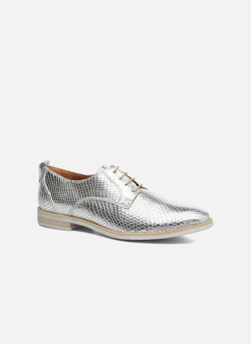 Chaussures à lacets Georgia Rose Nitrou Argent vue détail/paire