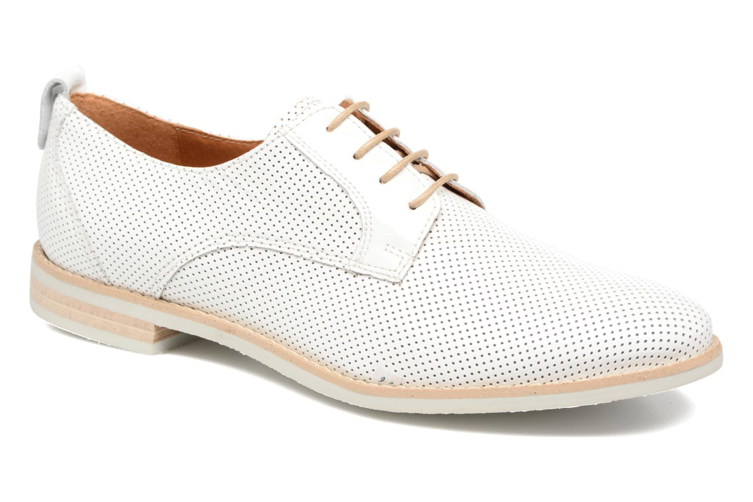 Lace-up shoes Georgia Rose Nitrou White detailed view/ Pair view