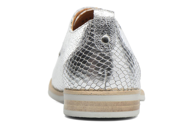 Chaussures à lacets Georgia Rose Nitrou Argent vue droite