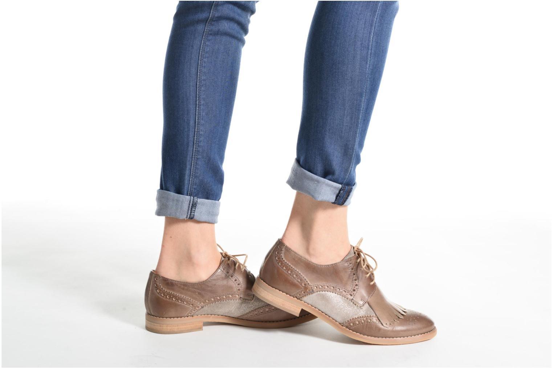 Zapatos con cordones Georgia Rose Nibule Azul vista de abajo