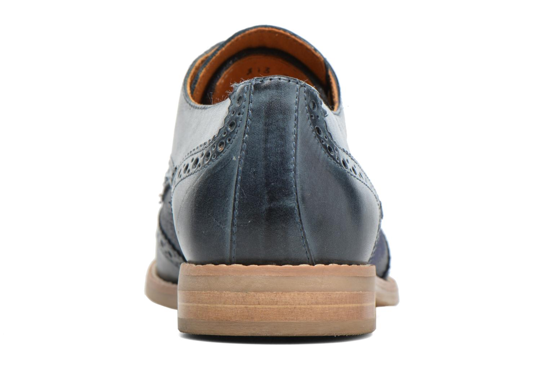 Zapatos con cordones Georgia Rose Nibule Azul vista lateral derecha