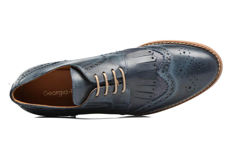 Zapatos con cordones Georgia Rose Nibule Azul vista lateral izquierda