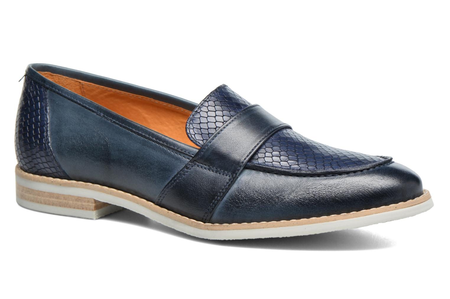 Loafers Georgia Rose Ninarck Blue detailed view/ Pair view