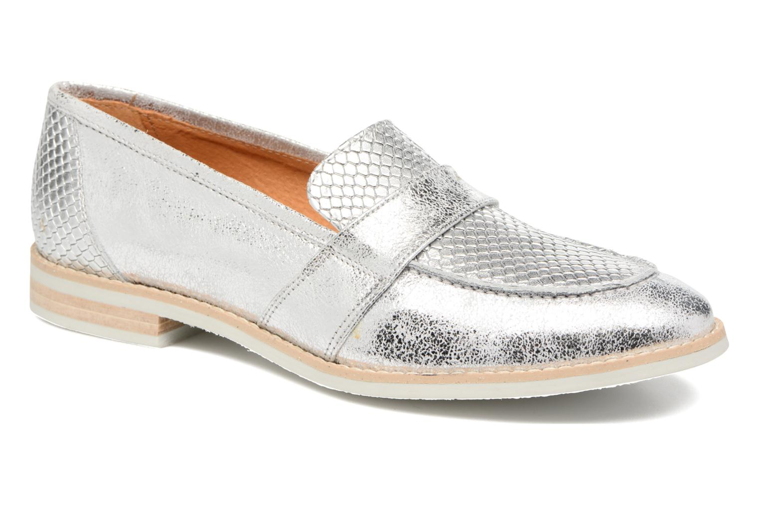 Loafers Georgia Rose Ninarck Silver detailed view/ Pair view