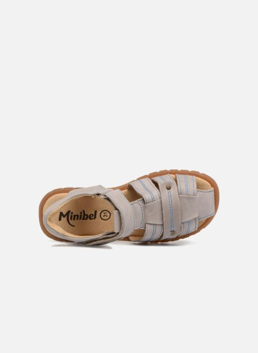 Sandals Minibel Mike Beige view from the left