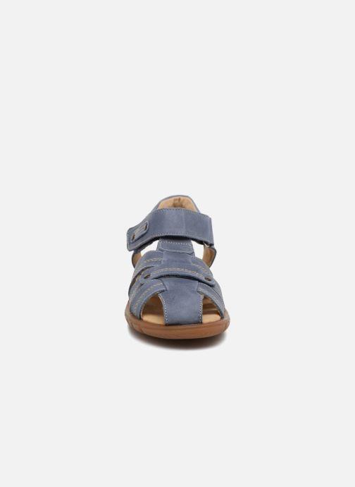 Sandales et nu-pieds Minibel Mike Bleu vue portées chaussures