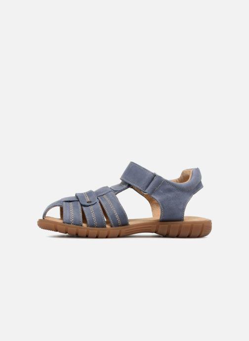 Sandales et nu-pieds Minibel Mike Bleu vue face