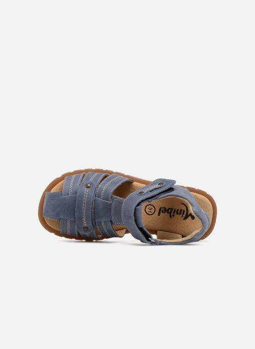 Sandales et nu-pieds Minibel Mike Bleu vue gauche