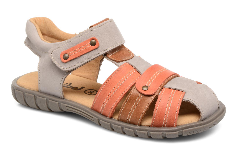 Sandaler Minibel Mike Grå detaljeret billede af skoene