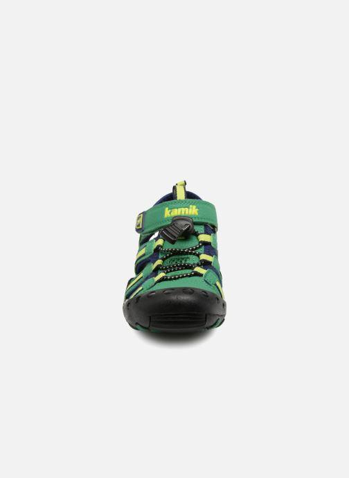 Sandales et nu-pieds Kamik Crab Vert vue portées chaussures