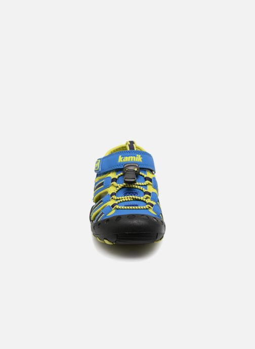 Sandales et nu-pieds Kamik Crab Bleu vue portées chaussures