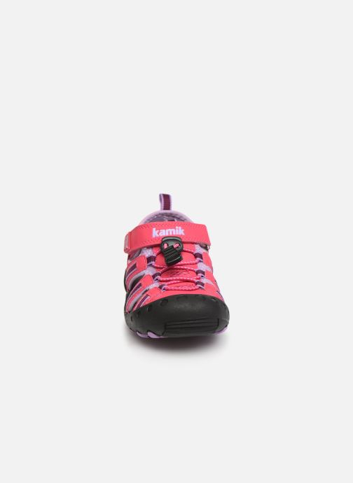 Sandales et nu-pieds Kamik Crab Rose vue portées chaussures