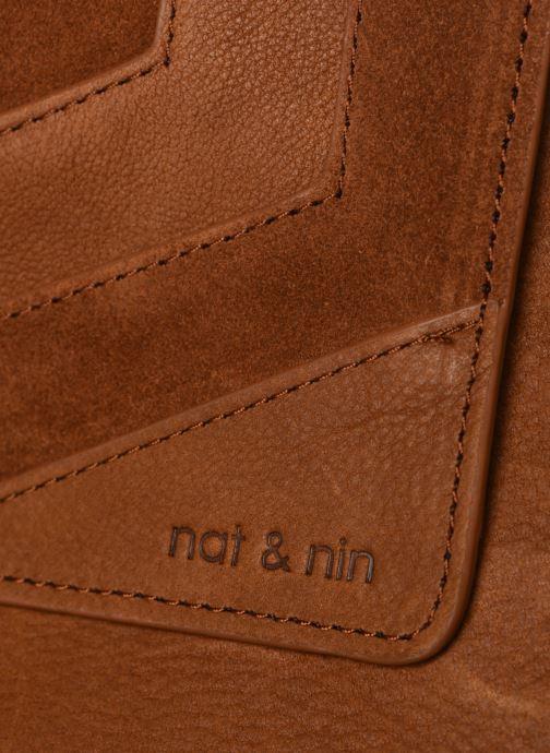 Bolsos Clutch Nat & Nin Capri Marrón vista lateral izquierda