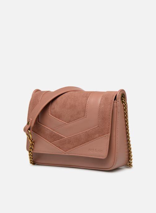 Bolsos Clutch Nat & Nin Capri Rosa vista del modelo