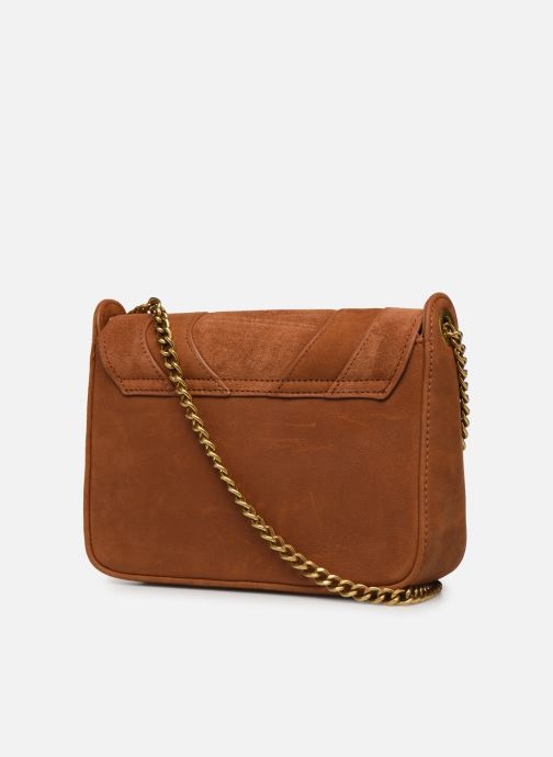 Clutch bags Nat & Nin Capri Brown view from the right