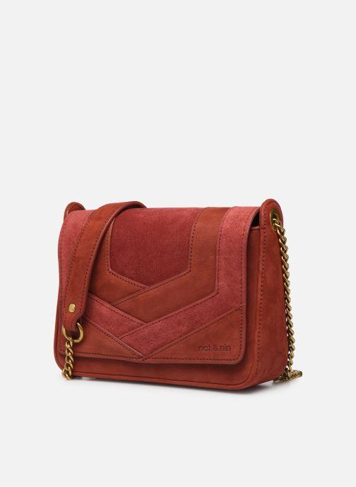 Sacs pochettes Nat & Nin Capri Rouge vue portées chaussures