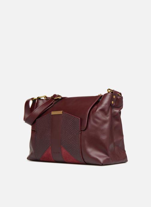 Handtaschen Nat & Nin Chiara weinrot schuhe getragen