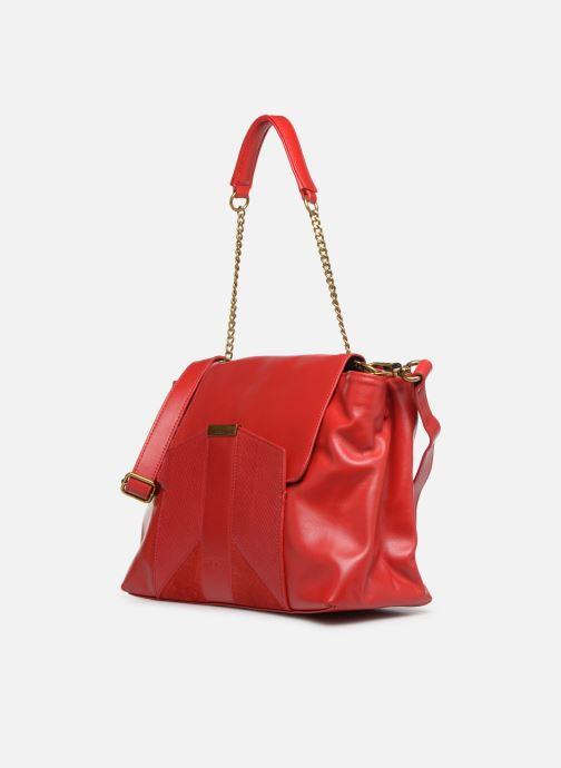 Handtaschen Nat & Nin Chiara rot schuhe getragen