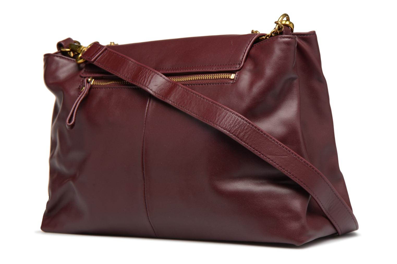 Handbags Nat & Nin Chiara Burgundy view from the right