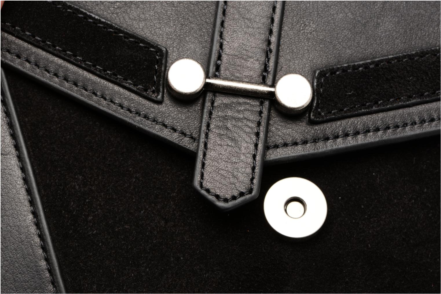 Clutch bags Nat & Nin Paola Black view from the left